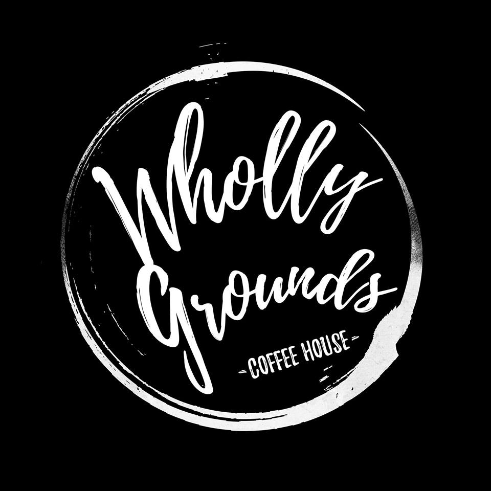 Logo for Wholly Grounds Coffee House in Cartersville, Georgia
