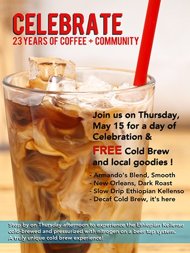 Crimson Cup Celebrates 23 Years of Coffee and Community