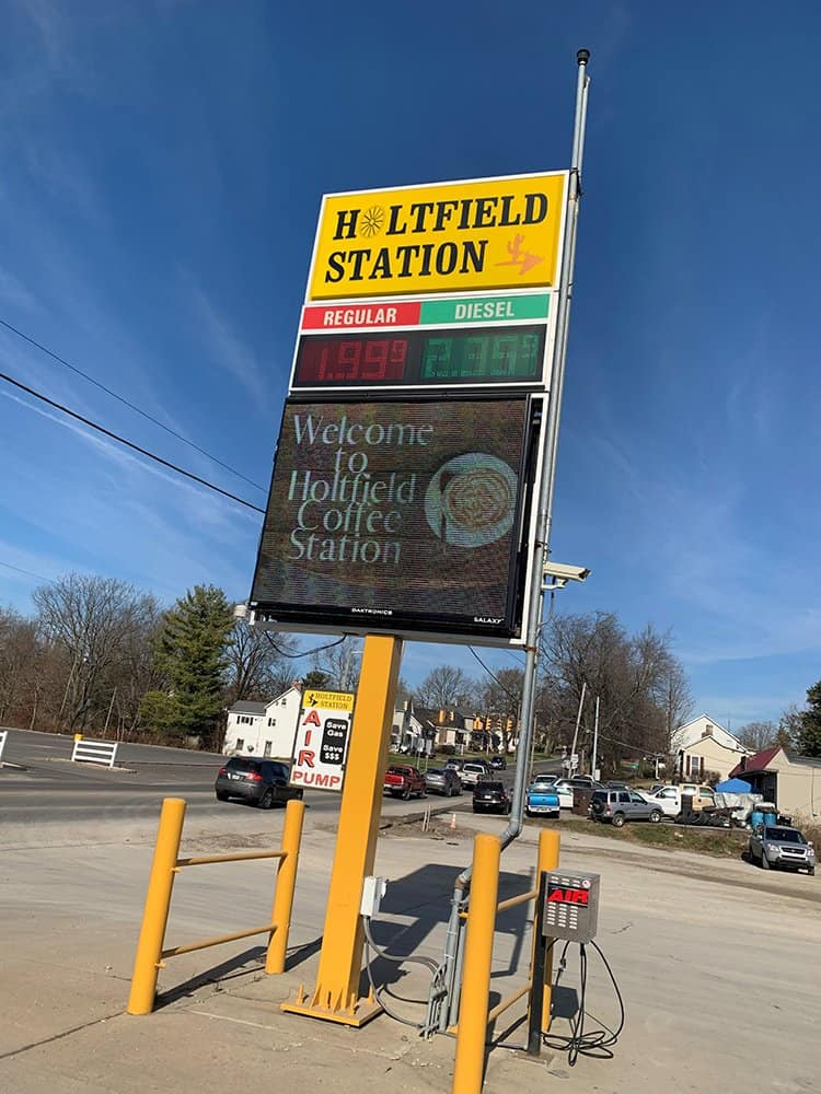 Holtfield Coffee Station sign