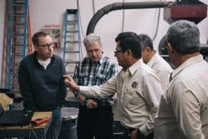 Coffee farmers from the Apolo cooperative in Guatemala visit the Crimson Cup Innovation Lab